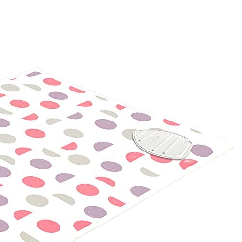 Encasa Homes Tapis de Repassage (120 x 70 cm) avec Rembourrage de 3 mm et Repose-Fer en Silicone pour Le Repassage à la Vapeur sur la Table ou Le lit - Couverture résistante à la Chaleur- Lune Rose