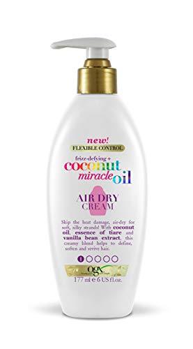 OGX Kokosnoot Miracle Oil Laat In Luchtdroog Haar Crème, 177 ml, Meerkleurig