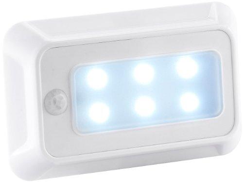 Preisvergleich Produktbild Lunartec LED Nachtlicht Batterie: LED-Nachtlicht mit Bewegungs- & Dämmerungs-Sensor,  Batteriebetrieb (Nachtlicht Batterie Wand)