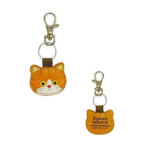 ECOUTE エクート 809664-10769(09671/ちゃしろ) E.minette キーチャーム ねこ ミネット ネコ 猫 グッズ かわいい 雑貨 服飾 key 収納 ポリエステル BAG バッグ チャーム
