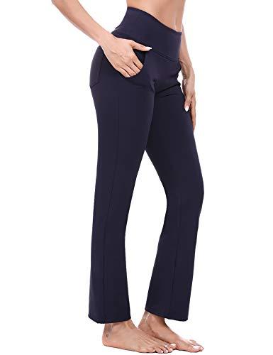 Sykooria Pantalones de Yoga Bootcut para Mujer con 4 Bolsillos Pantalón de...