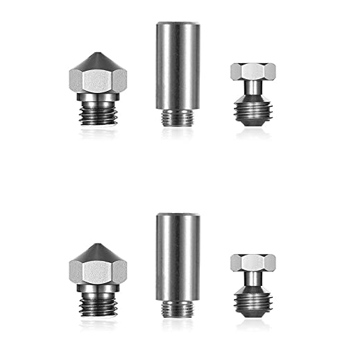BOINN 1Set MK10 All Metal Hotend Kit 0.4Mm MK10 Nozzle Thermal Barrier Throat Tube for Wanhao &I3 Connector for 3D Printer