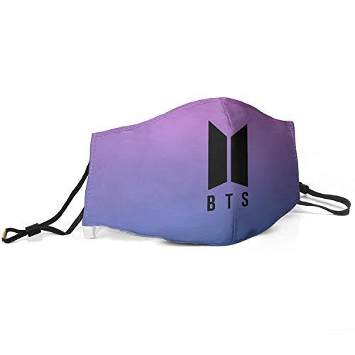 BTS-Bangtan-Kpop- Kpop Mundbedeckung für Frauen, verstellbar, wiederverwendbar, Mundschutz gegen Verschmutzung und Staub