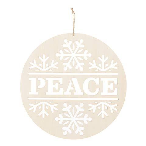 Darice 30050736 Adorno de la paz: madera sin terminar, 10 pulgadas, natural