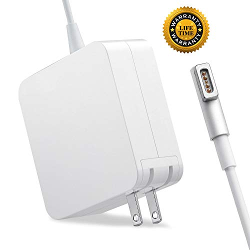Mac Book Pro Charger, 60W Power Adapter Magnetic L-Tip Connector Charger for 13-inch Mac Book Pro(Before Mid 2012 Models) (60L, White)