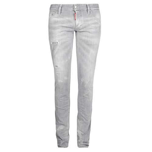 DSQUARED2 Herren Jeans | Long Clement Jean 48 50 52 54 Grey Distressed DS5