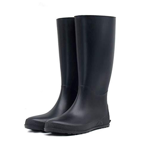 WXFF Clásico Desgaste del Color sólido Botas de Lluvia Antideslizante de Las Mujeres a Prueba de Agua Ligera Impermeable Botas de Lluvia Impermeable (Color : Black, Size : 38)