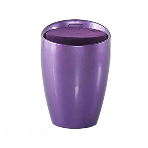 KFXL yizi Banc de chaussures de change, tabouret de rangement, pouf en plastique pour magasin de vêtements, tabouret, 10 couleurs en option 38 * 45cm (Couleur : Purple)