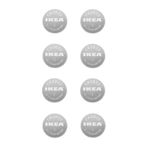 IKEA Lithium-PLATTBOJ / 8 Battery Pack/Pack of 8 CR2032 3 V Batteries