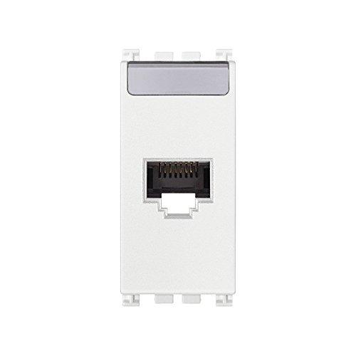 VIMAR SERIE Arke–Steckdose RJ45Netsafe Kategorie 5e UTP weiß