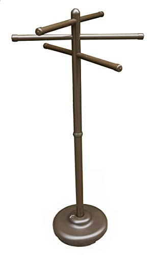 Outdoor Lamp company 401BRZ Portable Outdoor 3 Bar Towel Tree - Bronze