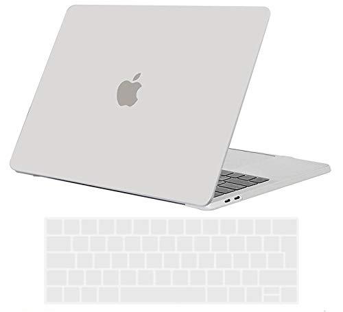 TECOOL Custodia MacBook PRO 15 Pollici 2016 2017 2018 2019 Case, Plastica Cover Rigida Copertina & Copertura della Tastiera per MacBook PRO 15,4 con Touch Bar & Touch ID A1707 / A1990 -Chiaro