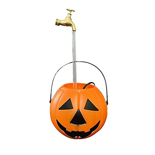 KELE Pumpkin Bucket Fountain Garden Fountains And Water Features Invisible Water Spray Can Fountain Suitable For Garden Decoration Halloween And Christmas Set Watering Can