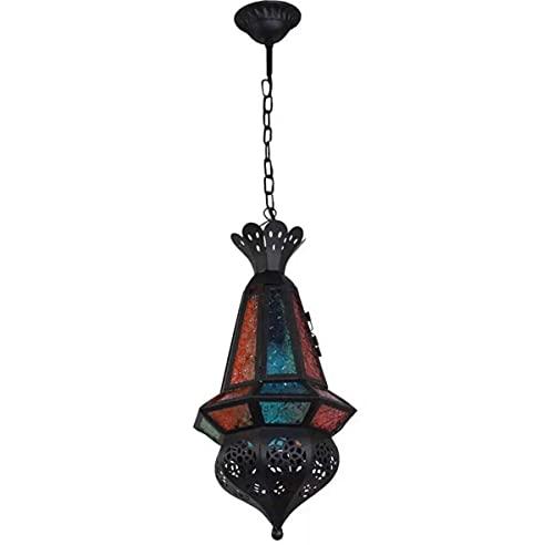 Lámpara colgante turca marroquí vintage de mosaico lámpara colgante de techo para isla comedor dormitorio pasillo