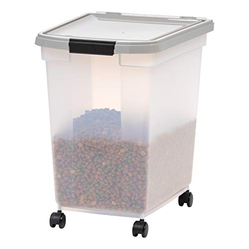 IRIS USA Airtight Pet Food Storage Container for Dog, Cat, Bird and Other Animals