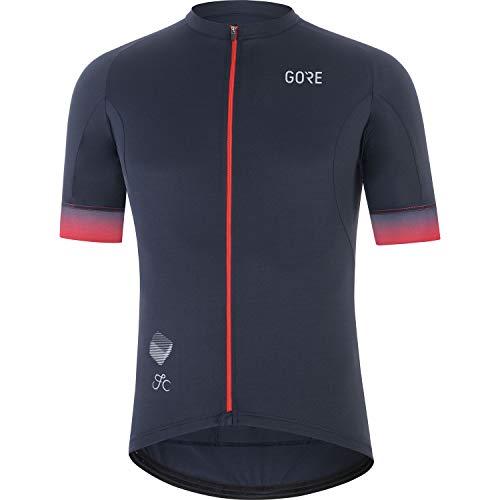 GORE WEAR Herren Fahrrad-Kurzarmtrikot Cancellara, L, Marineblau/Rot