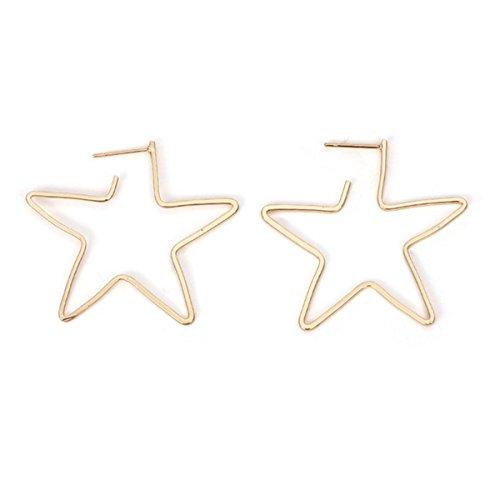 Butterme Simple Big Star Forme Hoop Longues Boucles d'oreilles Grand Géométrique Dangle Hoops Boucles d'oreilles De Mode Bijoux pour Femmes
