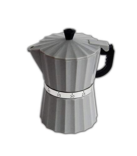 KURZZEITMESSER Espressokanne 6-Farben Eieruhr Küchentimer Wecker Küchen-Timer 87 (Grau)