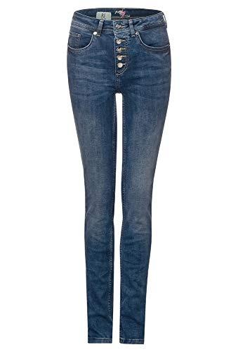 Street One Damen York Slim Fit Jeans, deep Blue Acid Washed, W29/L28