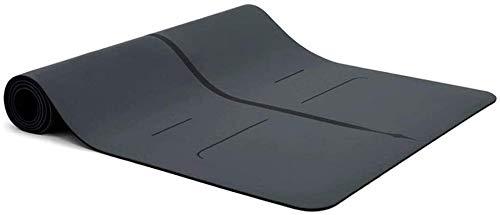 GDFEH Esterilla Yoga Pilates Mat de la alfombra de yoga negra Mat de yoga grueso Mat de alta densidad extra gruesa ecológica ECO EJERCICIO EJERCICIO PARA PILATES PUEDE PEQUEÑO PARA EL GIMNIGHT HOGAR E