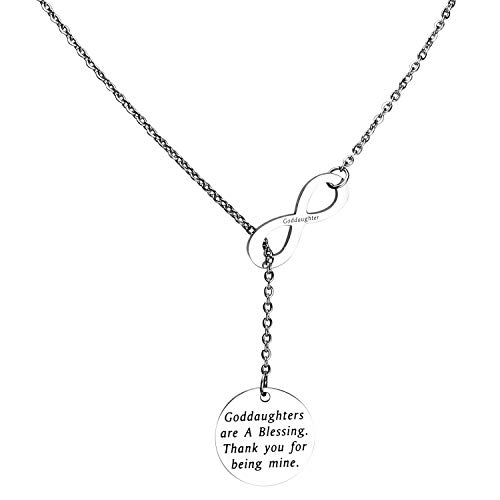 Goddaughter Gift Godmother Necklace Godmothers/Goddaughters Are a Blessing. Thank You for Being Mine Necklace First Communion Gift (goddaughter necklace)