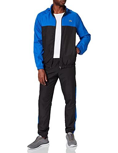 Lacoste Sport Herren WH9563 Trainingsanzug Set, Noir/Lazuli-Blanc, L