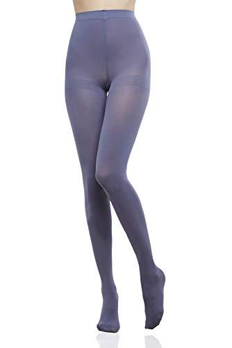 ®BeFit24 Medical Graduated Compression Support Panty (15-21 mmHg, klasse 1) voor vrouwen – beste panty voor vlucht en reis – DVT, spataderen en spataderen preventie, zwelling reductie Size 4 - Long: A - See second image Grijs