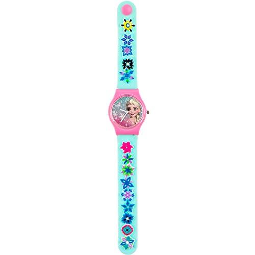 Disney Frozen Reloj analógico Charms Goma Pulsera, Adultos Unisex, Multicolor, Unico