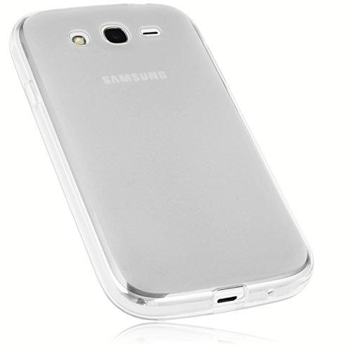 mumbi Funda Compatible con Samsung Grand Neo Plus Caja del teléfono móvil, Blanco Transparente