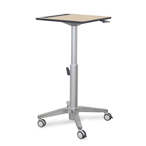 Ergotron – Sit-StandMobile Desk–16-Inch Height Adjustment,Maple