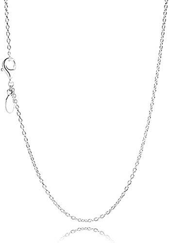 banbeitaotao Collar 925 Collares de Plata Collar de Cadena Fina Pulseras para Mujer Fiesta Boda Regalo de joyería