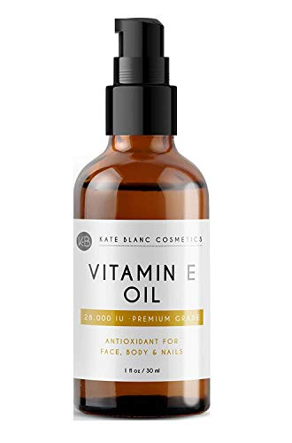 Vitamin E Oil by Kate Blanc. Moisturizes Face and Skin. 100% Pure, Extra...