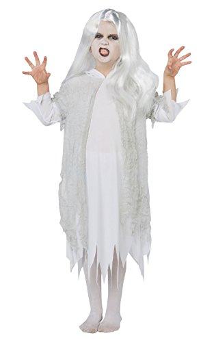 Rubie's officiële spookachtige geest Halloween kinderen kostuum en pruik, spookachtige geest Ghoul