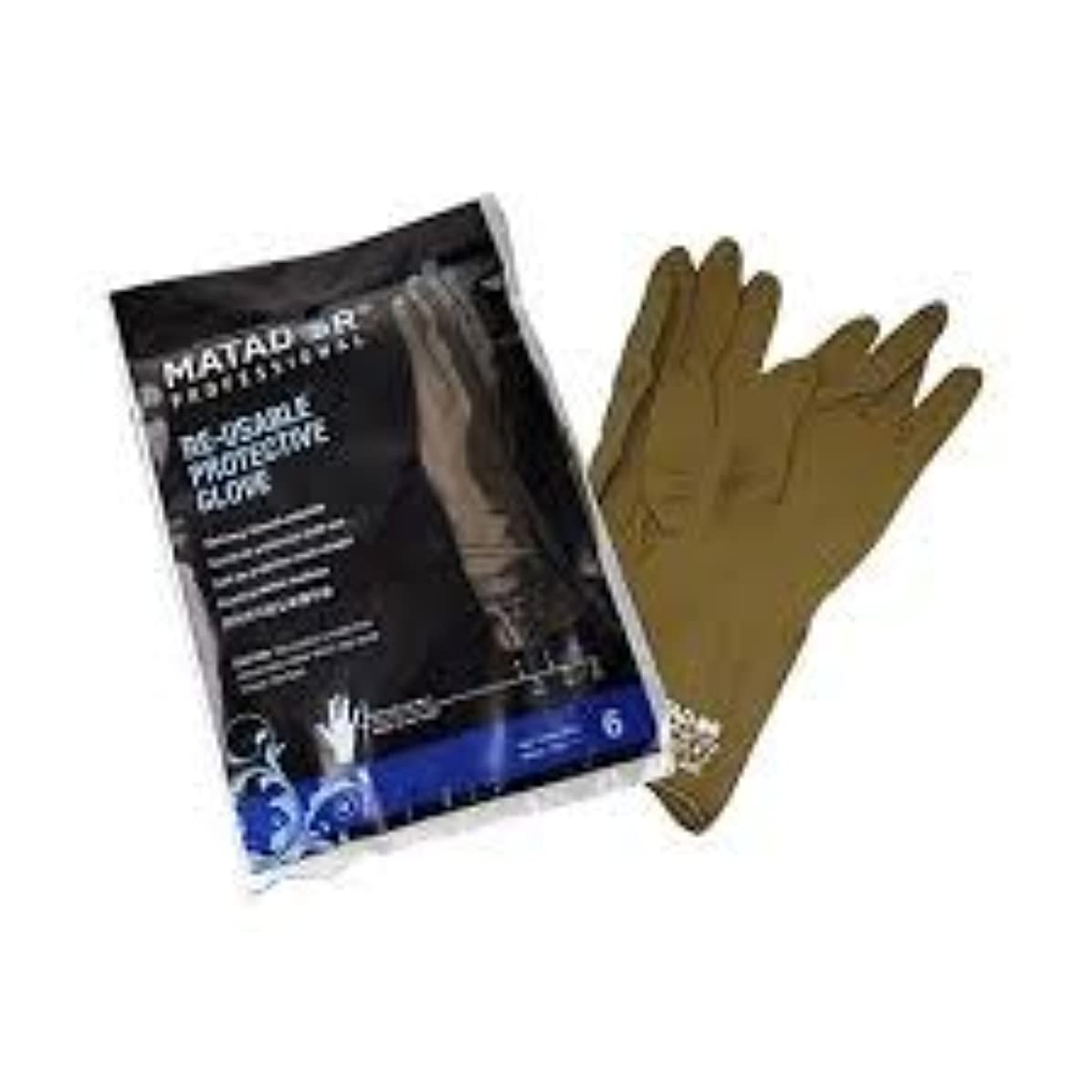 より平らな減る海岸マタドールゴム手袋 6.0吋 【10個セット】