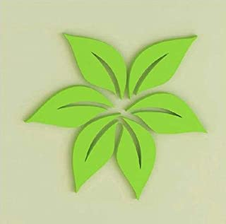 WANLIAN Leaf Wall Sticker 3D, Wooden Wall Sticker, Three-Dimensional Creative Wall Sticker Sticker, Removable Fashionable ...