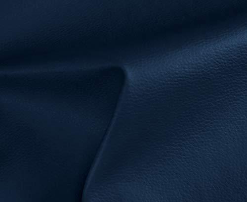 0,50 Metros de Polipiel para tapizar, Manualidades, Cojines o forrar Objetos. Venta de Polipiel por Metros. Diseño Solar Color Azul Marino Ancho 140cm