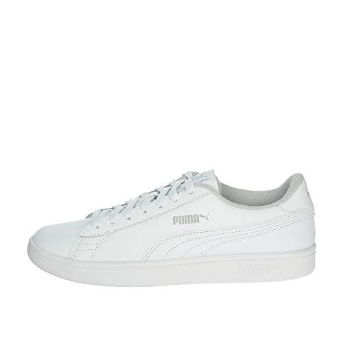 PUMA Unisex Kinder Puma Smash V2 L Jr Sneaker, Weiß Puma White Puma White, 39 EU