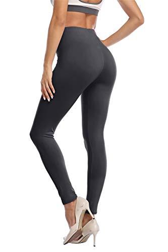 Kotii Women's High Waist Soft Full Length Leggings, Dark Green, One Size
