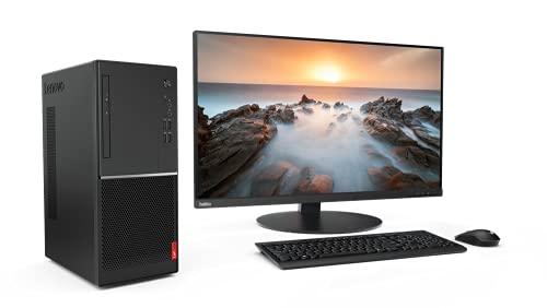 Lenovo V55t 15ARE - Ordenador Sobremesa Torre (AMD Ryzen 5 3350G, 8GB RAM, 256GB SSD, AMD Radeon Graphics, Windows 10 Pro), Negro - Teclado QWERTY Español y Ratón