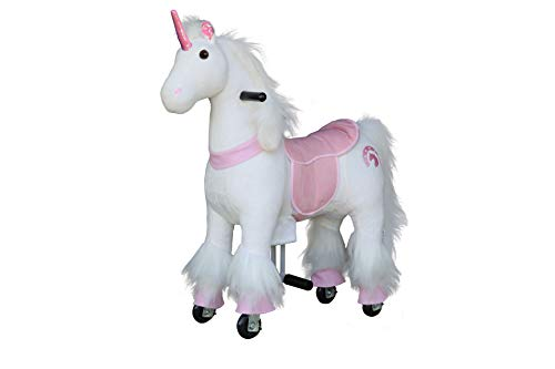 Medallion - My Pony Ride On Real Walking Horse for Children 3 to 6 Years Old or Up to 65 Pounds (Color Small Pink Unicorn)