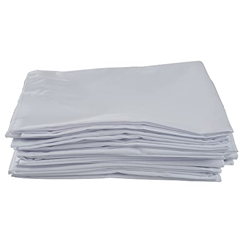 """ECR4Kids ELR-024 12-Pack Standard Cot Sheet with Elastic Straps, Standard Size Daycare and Preschool Cot Sheets for Rest Time, 50.5"""" x 21.75"""" - White"""