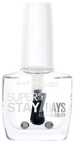 Maybelline Super Stay 7 Days Nagellack, Nr. 25 Crystal Clear, durchsichtiger Lack, extra-langer Halt, 10 ml