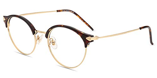 Firmoo Gafas Luz Azul Mujer Hombre,Gafas Gaming Anti UV para PC, Móvil TV, Tablet Protección contra Luz Azul, S1420 Tortuga