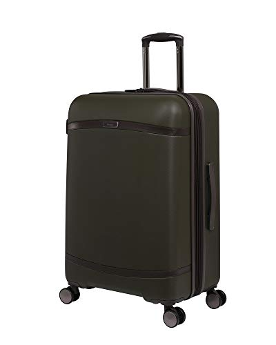 it luggage Quaint Hardside Expandable Spinner, Dark Olive with Mulch Trim, Checked-Medium 28-Inch