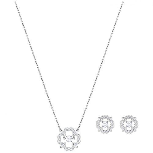 Swarovski Damen-Schmuckset SPARKLING Metall Swarovski Kristalle One Size, silber