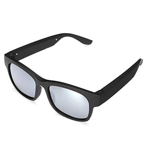 WXJWPZ Silver3IN1 Bluetooth 5.0 Gafas Inteligentes polarizadas Auriculares Deportivos Gafas de Sol IPX7 Auriculares Auriculares Altavoces con micrófono Conducción Sun Glass