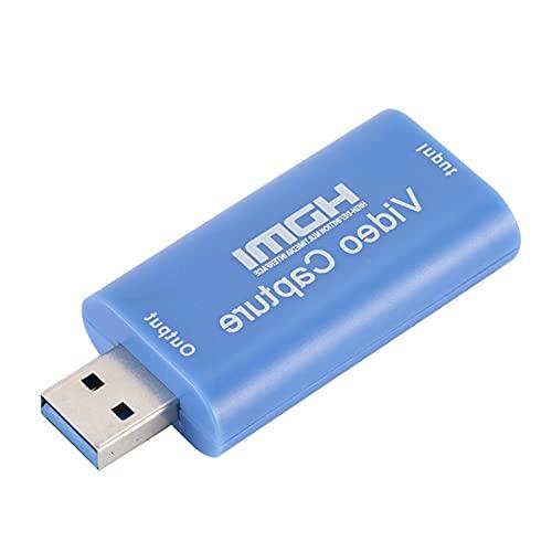 FLAMEER Tarjetas de Captura de Video y Audio portátiles HDMI a USB 2.0 1080P 4K Record para transmisión en Vivo