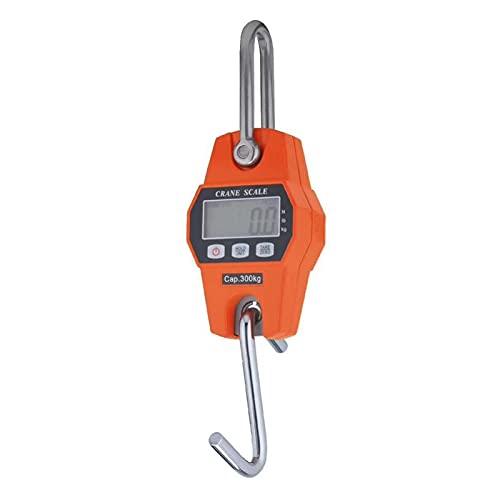 EEOO Báscula Digital para Peces, Mini báscula electrónica portátil para Colgar en Gancho, 660 LB, 300 kg para Granjas, Caza, Peso de Arco, Peces Grandes con Sensor preciso