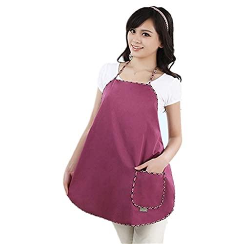 Wtky Ropa De Protección Contra La Radiación Vestido Del Tanque De Maternidad, Un Gran Bolsillo Delantal EMF Escudo Durante El Embarazo (Color : Purple Red, Tamaño : One Size)