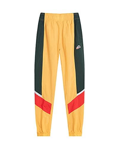 Nike Sportswear - Pantalón deportivo elástico para hombre, color amarillo y verde amarillo XS